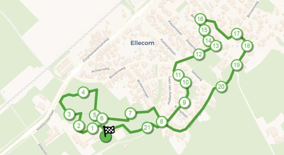 wandelroute de bijzondere bomen van Ellecom