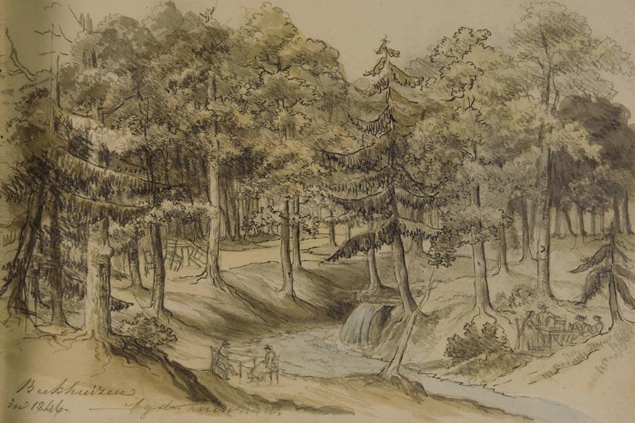 schets uit 1846