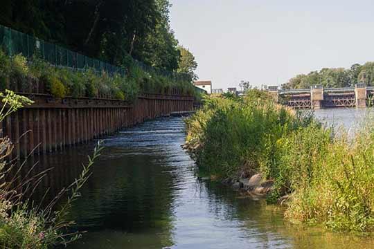 Een vistrap helpt vissen om stroomopwaarts te trekken en daar kuit te schieten.